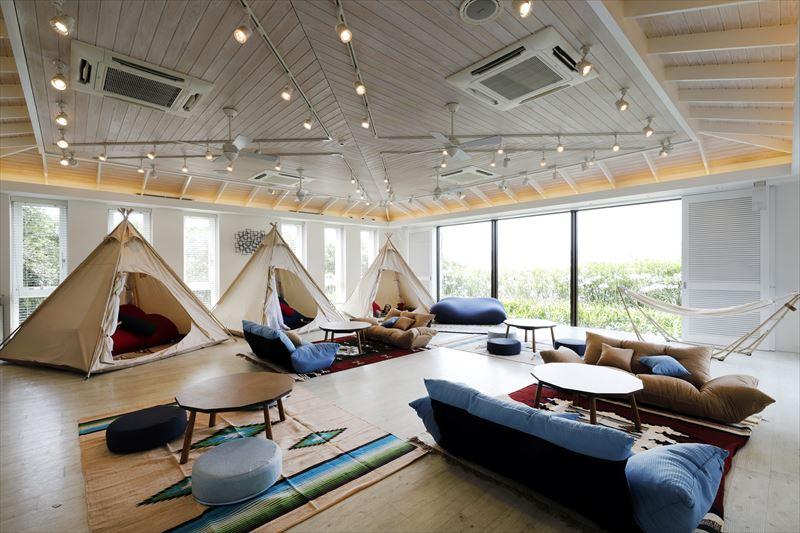 室内でテントが楽しめるセティルーム